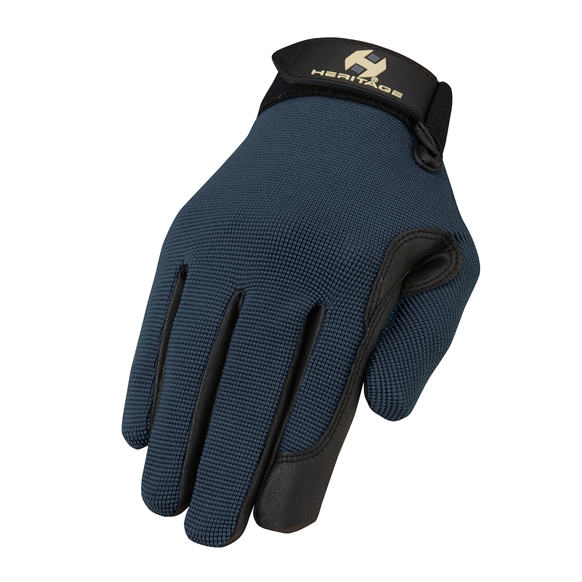 Various Sizes Steel Blue Heritage Performance Riding Gloves